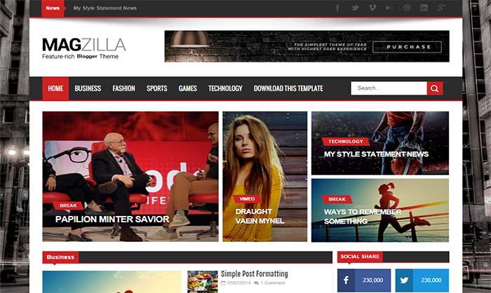 Mag Zilla Blogger Template