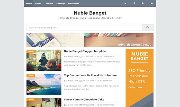 Nubie Banget Blogger Template