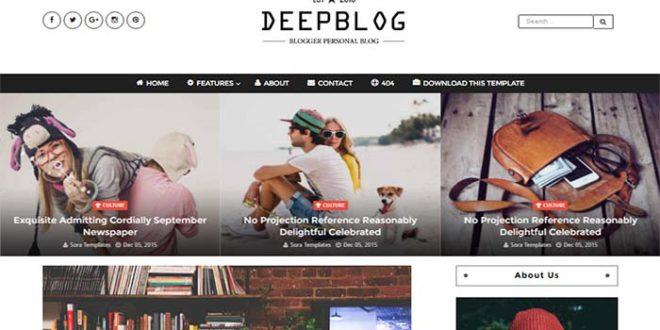 Deep Blogger Template