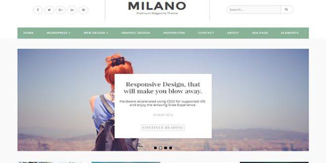 Milano Blogger Template