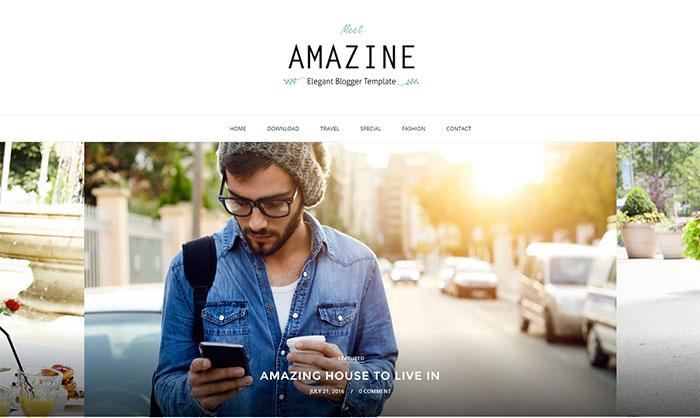 Amazine Blogger Template
