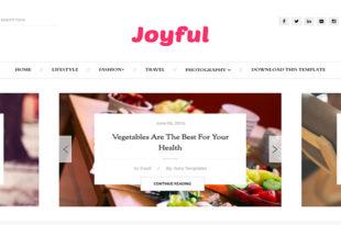 Joyful Blogger Template