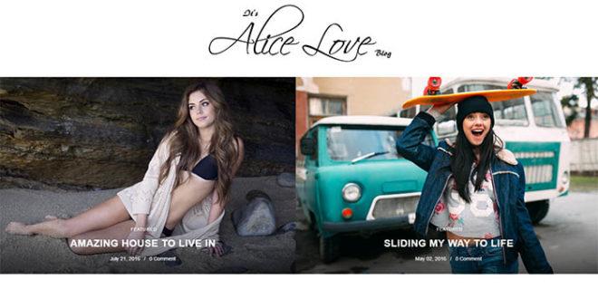 Alice Blogger Template