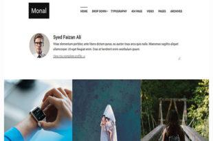 Monal blogger template