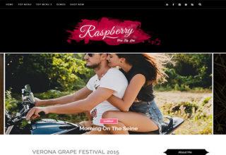 Raspberry Blogger Template