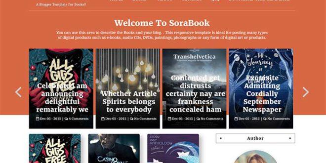 sora book blogger template