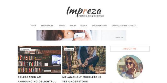 impreza blogger template