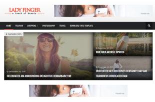 lady finger blogger template