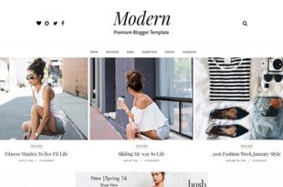 modern grid blogger template