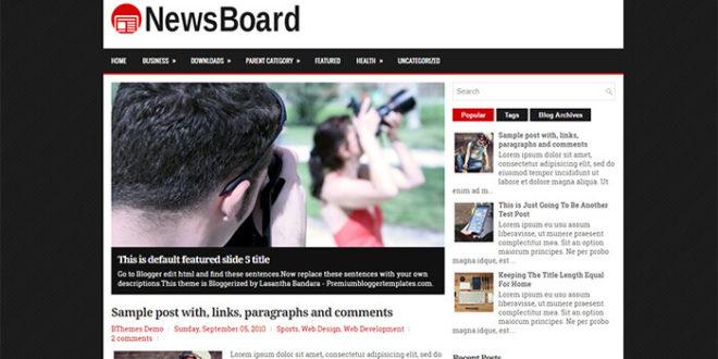 newsboard blogger template