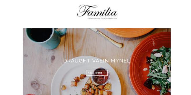 familia blogger template