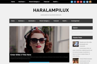 haralampilux blogger template