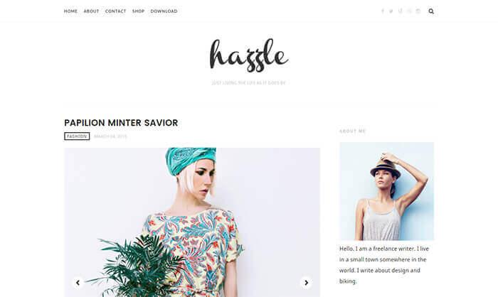 hazzle blogger template
