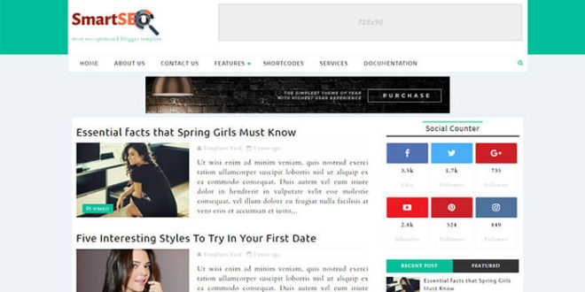 smartseo blogger template