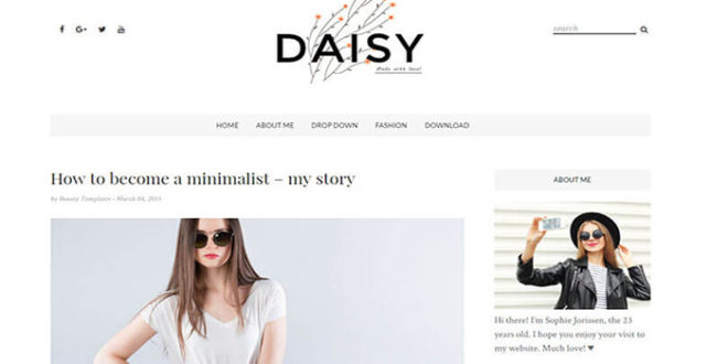 Daisy Blogger Template