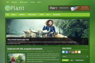 Plant Blogger Template