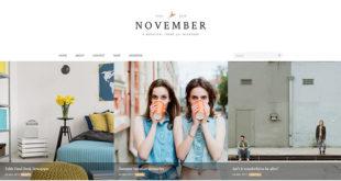 November Blogger Template