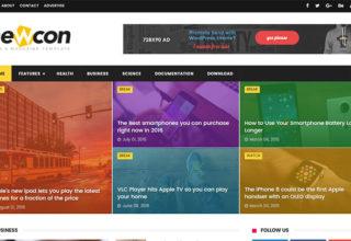 Newcon Blogger Template