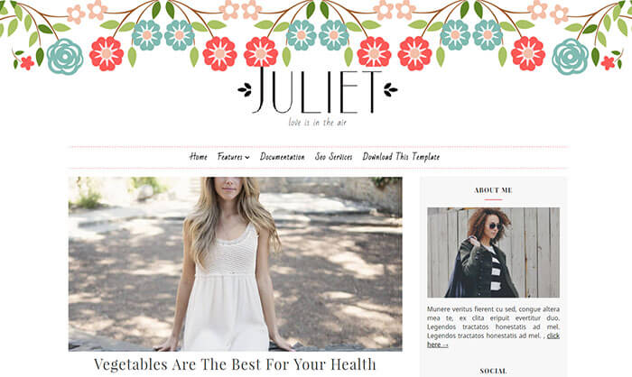 Juliet Blogger Template