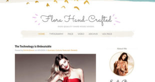Flora Blogger Template