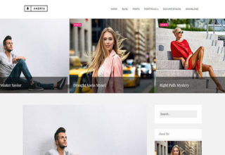 Andria Blogger Template