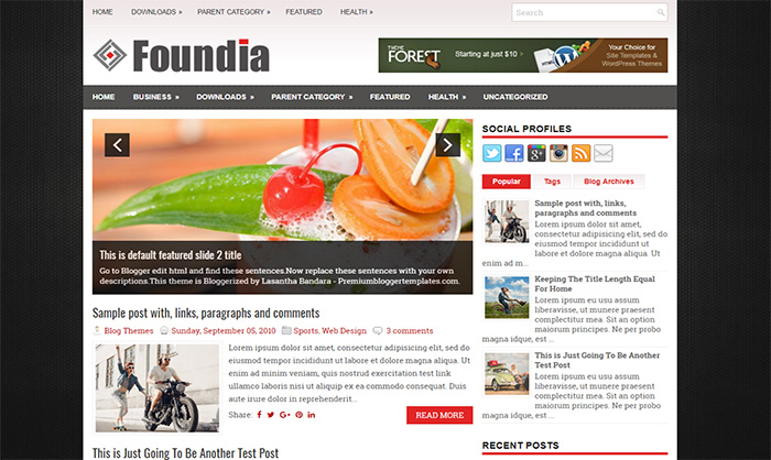 Foundia Blogger Template