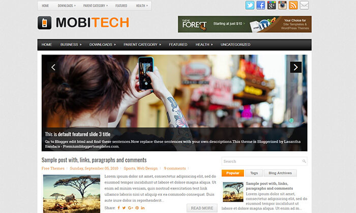 MobiTech Blogger Template