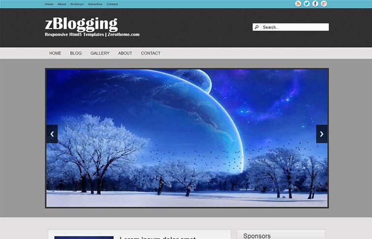 Blogging Free Responsive
