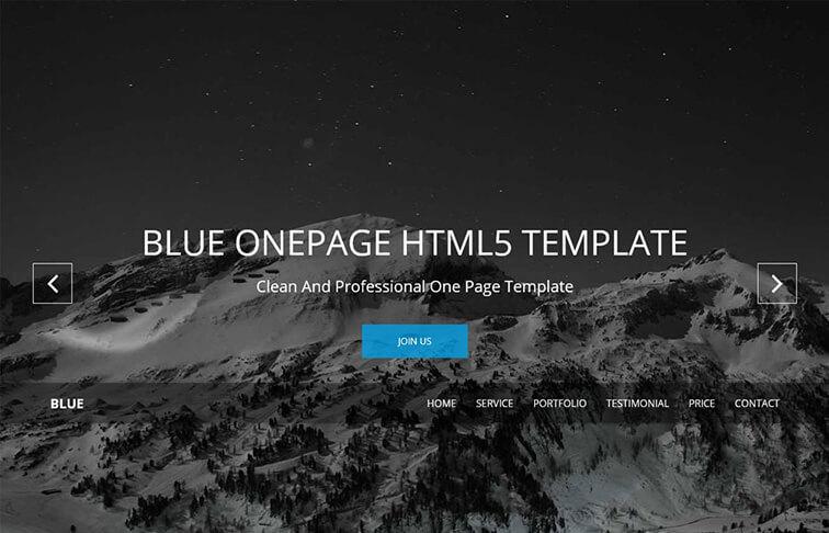 Blue Responsive HTML5
