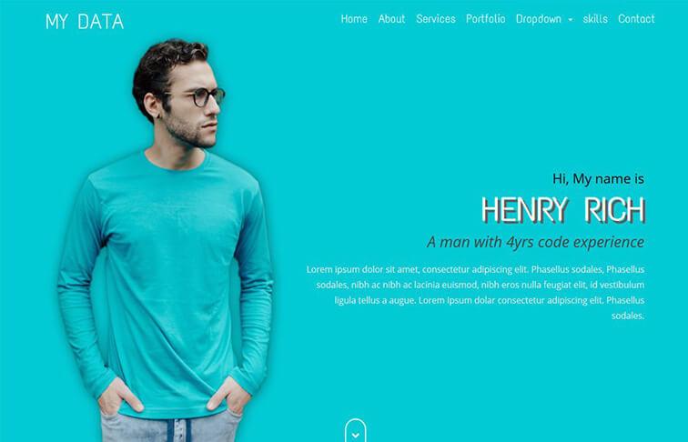 Data Free Responsive HTML5