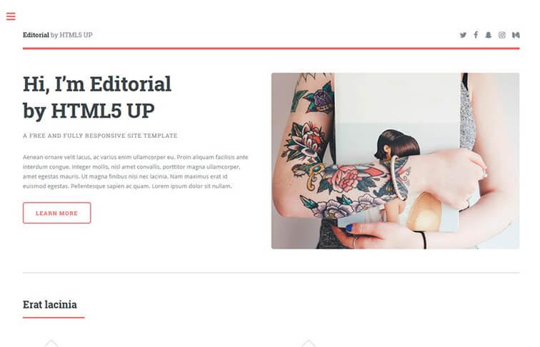 Editorial HTML5 CSS3 Website