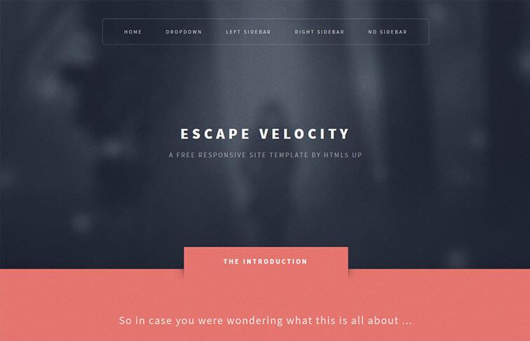 Escape CSS3 Website