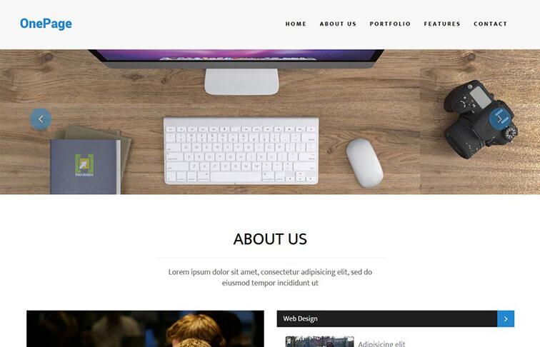 OnePage CSS3 Website