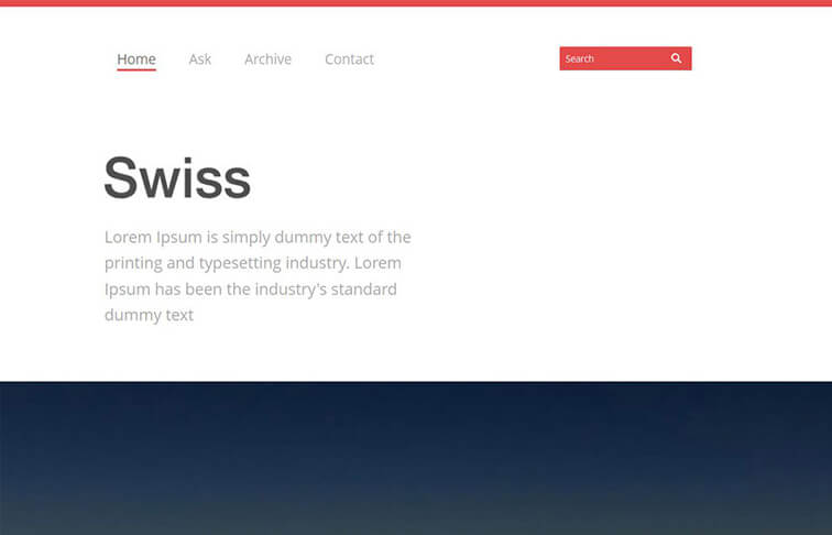 Swiss Free Responsive HTML5 CSS3