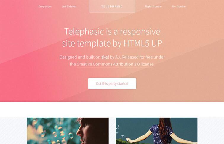 Telephasic HTML5 CSS3