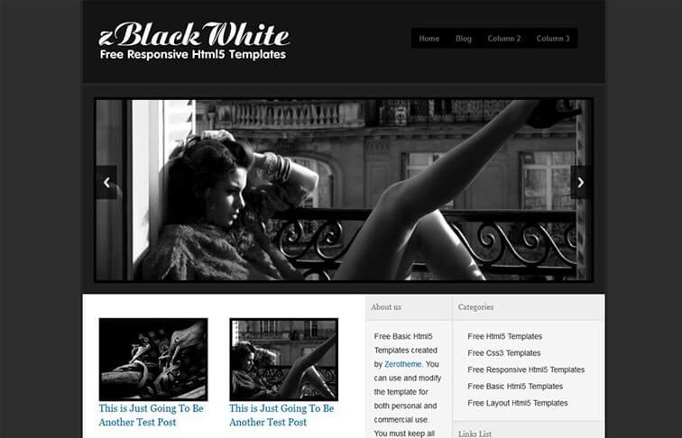 White Free Responsive HTML5