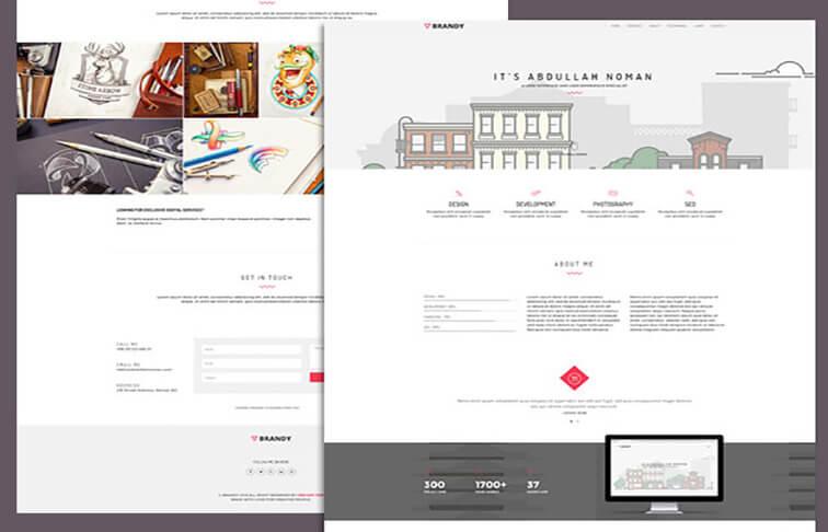 brandy Responsive HTML5 CSS3