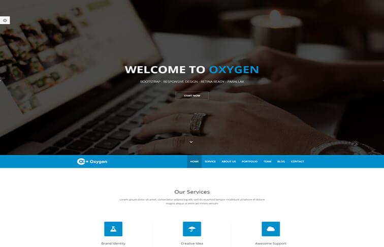 oxygen CSS3 Website Template