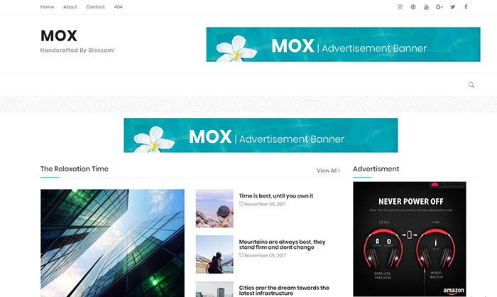 Mox Blogger Template