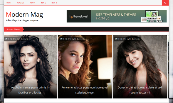 Modern-Mag-Blogger-Template