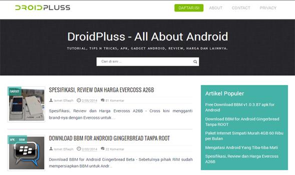 DroidPluss-Responsive-Blogger-Template