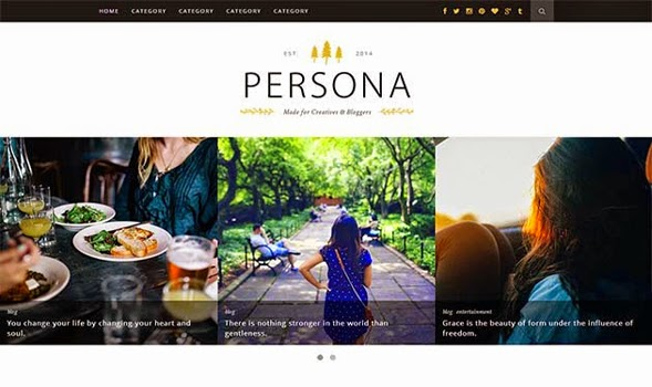Persona Responsive Blogger Template
