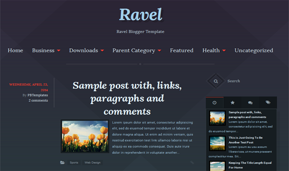 Ravel Responsive Blogger Template