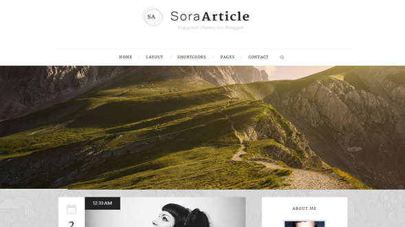 Sora-Article-Responsive-Blogger-Template