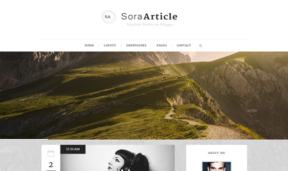 Sora Article Responsive Blogger Template