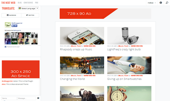 The Next Web Responsive Blogger Template