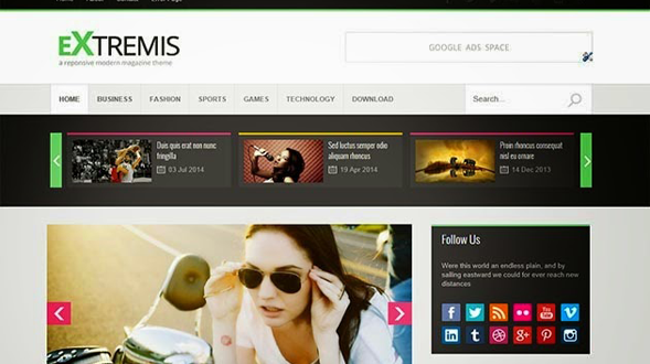 Extremis-Responsive-Blogger-Template