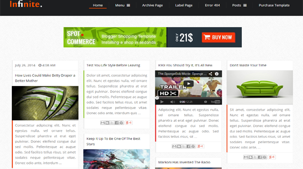 Infinite-Responsive-Blogger-Template