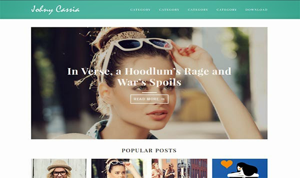 Johny Cassia Responsive Blogger Template