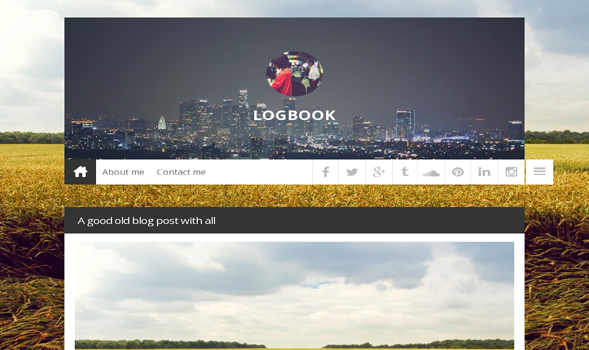 Logbook Responsive Blogger Template